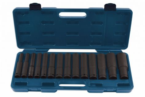 "Laser 7759 14 Piece 1/2"" Drive Extra Deep Impact Socket Set"